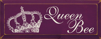 Queen Bee (with crown graphic)|Queen Wood Sign | Sawdust City Wood Signs