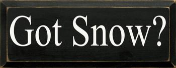 Got Snow? |Seasonal Wood Sign| Sawdust City Wood Signs