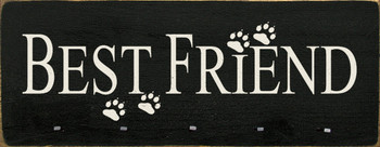 Best Friend with Paw Prints And Nails For Leashes |Dogs Wood Sign| Sawdust City Wood Signs