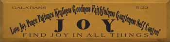 Fruit Of The Holy Spirit - Love Joy Peace Patience... - Galatians 5:22 |Wood Sign With Bible Verse| Sawdust City Wood Signs