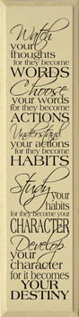 Watch Your Thoughts For They Become Words...|Wood Sign With Famous Quotes | Sawdust City Wood Signs