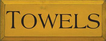 Towels  Bathroom Wood Sign   Sawdust City Wood Signs