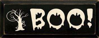 Boo! |Halloween Wood Sign| Sawdust City Wood Signs
