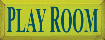 Play Room  Kids Room Wood Sign  Sawdust City Wood Signs