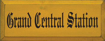 Grand Central Station (small) | Wood Sign With Location| Sawdust City Wood Signs