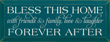 Bless This Home With Friends And Family Love And..|Family & Friends Wood Sign| Sawdust City Wood Signs