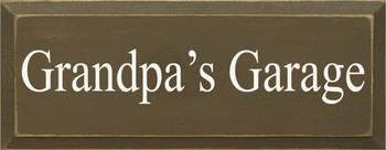 Grandpa's Garage|Garage Wood Sign| Sawdust City Wood Signs