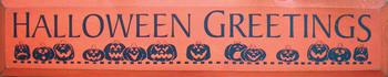 Halloween Greetings | Seasonal Wood Sign  | Sawdust City Wood Signs