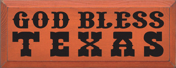 God Bless Texas |Texas Wood Sign| Sawdust City Wood Signs