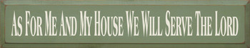 As For Me And My House We Will Serve The Lord |Christian Wood Sign  | Sawdust City Wood Signs