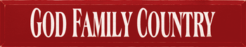 God Family Country | Christian Wood Sign | Sawdust City Wood Signs