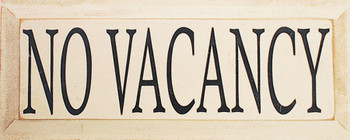 No Vacancy  | Simple Wood Sign | Sawdust City Wood Signs