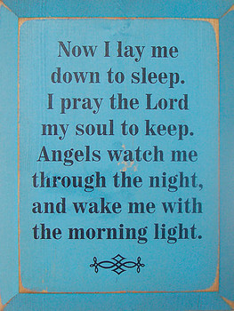Now I Lay Me Down To Sleep.. |Christian Wood Sign.. Goodnight Prayer | Sawdust City Wood Signs