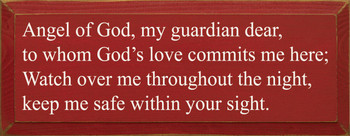 Angel Of God..  | Wood Sign With Goonight Prayer | Sawdust City Wood Signs