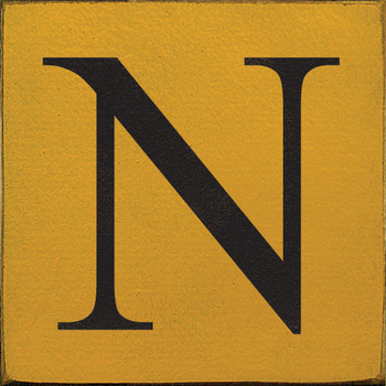 Shown in Old Mustard with Black lettering