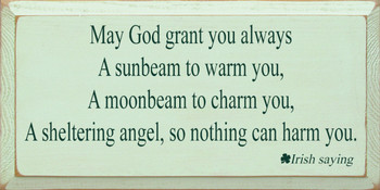 May God Grant You.. | Wood Sign.. Irihs Saying | Sawdust City Wood Signs