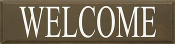 Welcome (large) | Welcome Wood Sign | Sawdust City Wood Signs