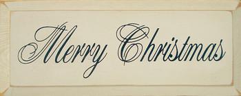 Merry Christmas (Script) | Seasonal Wood Sign | Sawdust City Wood Signs