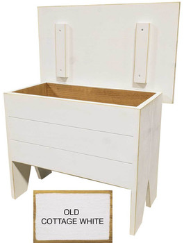 Small bench for home decor | Small 2' Storage Bench | In Old Cottage White