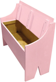 Open-View Rustic Storage Bench | Sawdust City LLC Boot Bench | In Baby Pink