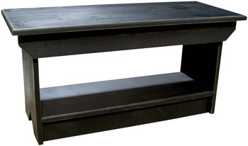 Retail Coffee Table/Bench | Solid Pine Bench Retail | In Old Black