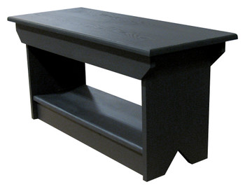 Retail Coffee Table/Bench | Solid Pine Bench Retail | In Solid Black