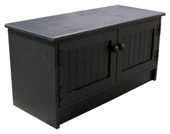 Shown in Solid Black with Beadboard doors