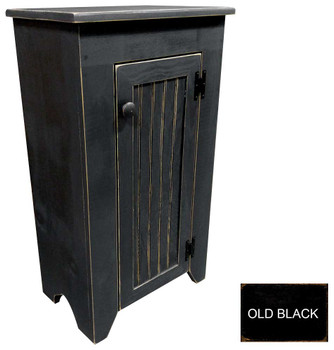 Shown in Old Black with a beadboard door