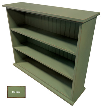 Small Hallway Bookcase | 3-Shelf Hall Bookcase  |  Sawdust City Bookshelf in Old Sage