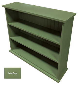 Small Hallway Bookcase | 3-Shelf Hall Bookcase  |  Sawdust City Bookshelf in Solid Sage