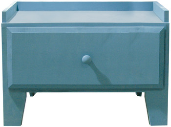 Small Storage Drawer | Retail Bench with Drawer| In Solid Williamsburg Blue