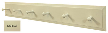 Wooden Coat Rack  - Shown in Solid Cream