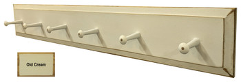 Wooden Coat Rack  - Shown in Old Cream