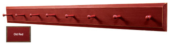 Wood Peg Rack - Shown in Old Red