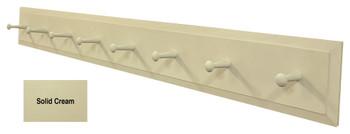 Long Wall Coat Rack - Shown in Solid Cream