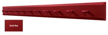 Long Wall Coat Rack - Shown in Solid Red