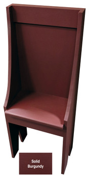 Small Primitive Chair - Shown in Solid Burgundy