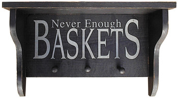 Shown in Old Black with pegs and lettering from a 7x18 sign