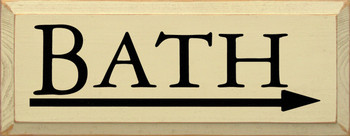 Shown in Old Cream with Black Lettering