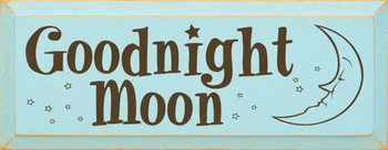 Goodnight Moon    Goodnight Wood Sign  Sawdust City Wood Signs