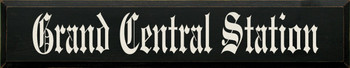 Grand Central Station (large)  |Destination Wood Sign| Sawdust City Wood Signs