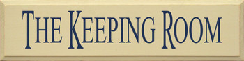 Shown in Old Cream with Blue lettering