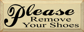 Please Remove Your Shoes  | Entryway Wood Sign| Sawdust City Wood Signs