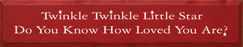 Twinkle Twinkle Little Star.. (large)  | Wood Sign With Famous Lullaby | Sawdust City Wood Signs