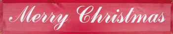 Merry Christmas (Script) (large) | Seaonal Wood Sign| Sawdust City Wood Signs
