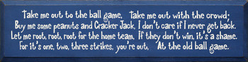 Take Me Out To The Ball Game | Wood Sign With Baseball Song | Sawdust City Wood Signs