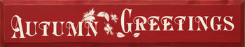 Autumn Greetings (large) | Fall Wood Sign| Sawdust City Wood Signs