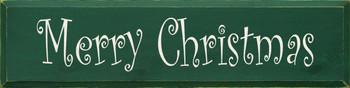 Merry Christmas (Curlz) (large) | Seasonal Wood Sign| Sawdust City Wood Signs