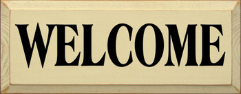 Welcome (small) | Welcoming Wood Sign | Sawdust City Wood Signs