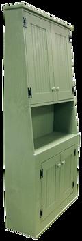 CUSTOM - Cantback Hutch with Top Doors | Custom Pine Hutch | Sawdust City Custom Furniture